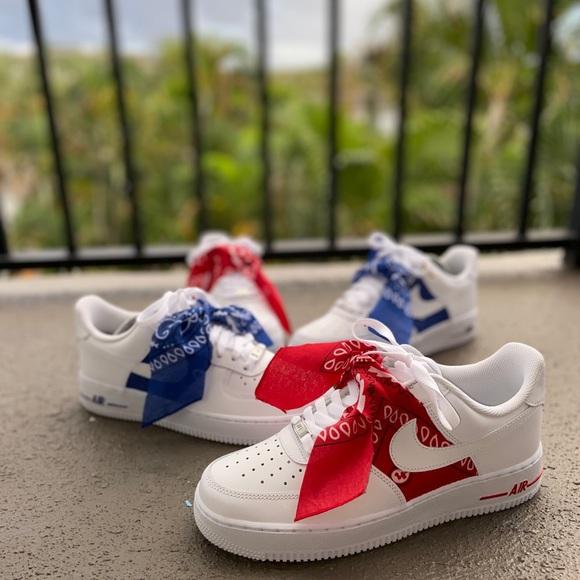 Nike Shoes   Custom Bandana Air Force S